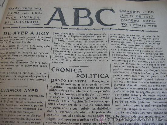 Coleccionismo de Los Domingos de ABC: ABC. AÑO 1955.CINCUENTENARIO DEL DIARIO. - Foto 6 - 27180422