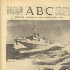 Coleccionismo de Los Domingos de ABC: ABC 11 DE AGOSTO DE 1940 LANCHAS ALEMANAS DUEÑAS DEL CANAL.. Lote 27606762