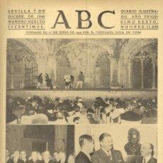 Colecionismo de Los Domingos de ABC: ABC 7 DE DICIEMBRE DE 1940 CONMEMORACIONES EN PORTUGAL. Lote 27606771