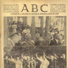 Coleccionismo de Los Domingos de ABC: ABC 31 DE JULIO DE 1941 EL CAUDILLO EN CAMPAMENTO DEL FRENTE DE JUVENTUDES DIVISION AZUL.. Lote 27606778
