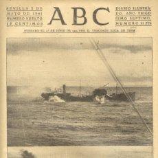 Coleccionismo de Los Domingos de ABC: ABC 2 DE MAYO DE 1941 LA GIGANTESCA GUERRA MARITIMA. Lote 26230237
