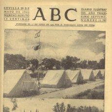 Coleccionismo de Los Domingos de ABC: ABC 29 DE MAYO DE 1941 CAMPAMENTO DEL FRENTE DE JUVENTUDES CASA DE CAMPO.. Lote 120951731