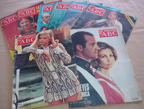 LOS DOMINGOS DE ABC - LOTE DE 8 EJEMPLARES (Coleccionismo - Revistas y Periódicos Modernos (a partir de 1.940) - Los Domingos de ABC)