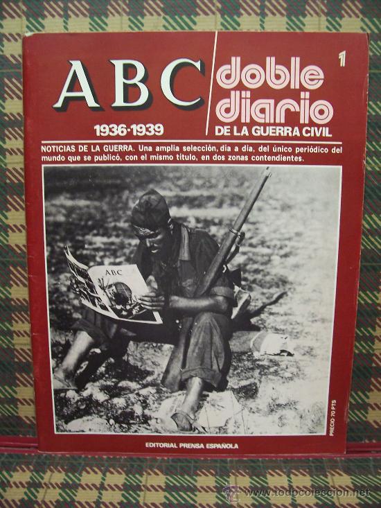 ABC 1936/1939 DOBLE DIARIO DE LA GUERRA CIVIL - Nº 1 (Coleccionismo - Revistas y Periódicos Modernos (a partir de 1.940) - Los Domingos de ABC)