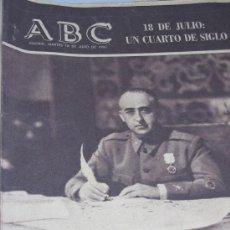 Coleccionismo de Los Domingos de ABC: ABC: 18 DE JULIO DE 1.961.. Lote 26302168