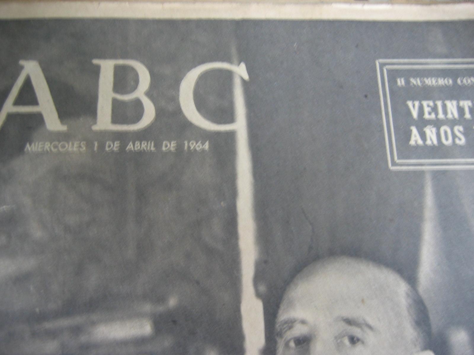 Coleccionismo de Los Domingos de ABC: ABC. AÑO 1.964. CONMEMORATIVOS DE LOS 25 AÑOS DEL FINAL DE LA GUERRA EN 1.939. - Foto 5 - 26330711