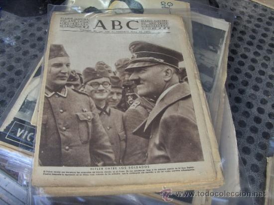 PERIODICO ABC 4-2-1940 - PORTADA HITLER ENTRE LOS SOLDADOS. SEGUNDA GUERRA MUNDIAL (Coleccionismo - Revistas y Periódicos Modernos (a partir de 1.940) - Los Domingos de ABC)