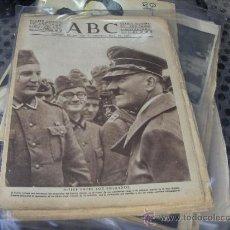 Coleccionismo de Los Domingos de ABC: PERIODICO ABC 4-2-1940 - PORTADA HITLER ENTRE LOS SOLDADOS. SEGUNDA GUERRA MUNDIAL . Lote 27589136