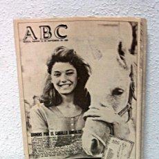 Coleccionismo de Los Domingos de ABC: ABC DE SEVILLA /// 16 SEPTIEMBRE 1989 /// RAQUEL REVUELTA PORTADA /// CABALLO ANDALUZ ///. Lote 28243530