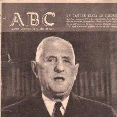 Coleccionismo de Los Domingos de ABC: ABC. 28-4-1965. DE GAULLE, HONG-KONG, DEMOCRACIA MEXICANA, PIO XII, PARDO DE SANTAYANA. Lote 28873006