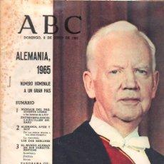 Coleccionismo de Los Domingos de ABC: ABC. 6-4-1965. ALEMANIA, NUMERO HOMENAJE A UN GRAN PAIS.. Lote 28887600