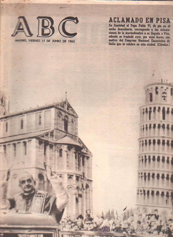 ABC. 11-6-1965. CASTIELLA, RILKE, CALATRAVA, DE GAULLE, DEFFERRE, MOMENTO VITIVINICOLA (Coleccionismo - Revistas y Periódicos Modernos (a partir de 1.940) - Los Domingos de ABC)