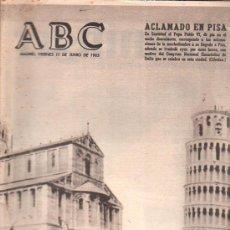 Coleccionismo de Los Domingos de ABC: ABC. 11-6-1965. CASTIELLA, RILKE, CALATRAVA, DE GAULLE, DEFFERRE, MOMENTO VITIVINICOLA. Lote 28887667