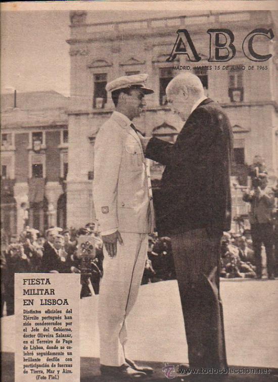 ABC. 15-6-1965. FIESTA MILITAR LISBOA, TORREJON DE ARDOZ, 2º REPUBLICA ESPAÑOLA, JACOBEO (Coleccionismo - Revistas y Periódicos Modernos (a partir de 1.940) - Los Domingos de ABC)