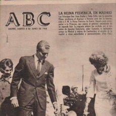 Coleccionismo de Los Domingos de ABC: ABC. 8-6-1965. REINA MARIA CRISTINA, LORD KEYNES, PENTECOSTES, CASTILLO DE MADRID, WHITE Y MCDIVITT. Lote 28918833