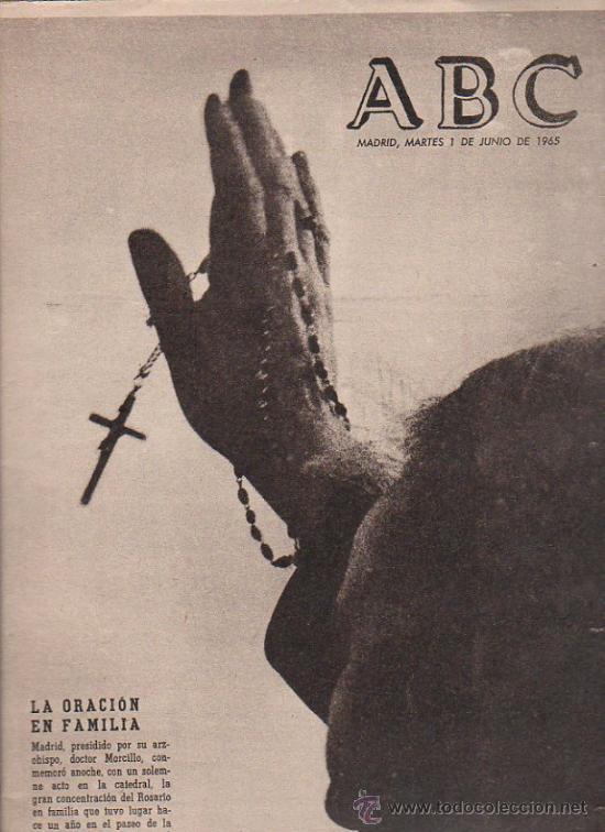 ABC. 1-6-1965. DOCTOR MORCILLO, TRANVIAS EN LISBOA, ALFONSO XII, ERHRAD, VIETNAM (Coleccionismo - Revistas y Periódicos Modernos (a partir de 1.940) - Los Domingos de ABC)