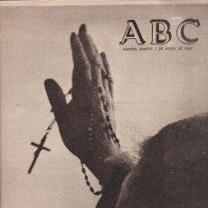 Coleccionismo de Los Domingos de ABC: ABC. 1-6-1965. DOCTOR MORCILLO, TRANVIAS EN LISBOA, ALFONSO XII, ERHRAD, VIETNAM. Lote 28918856
