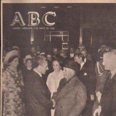 Coleccionismo de Los Domingos de ABC: ABC. 05-05-1965. PASO DE SHAD POR BARAJAS; MUÑOZ GRANDES; REPATRIADOS DE ST. DOMINGO. Lote 28918926