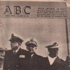 Coleccionismo de Los Domingos de ABC: ABC. 7-5-1965. MADAME AUCLAIR, GALICIA ROMERA, DE GAULLE, OEA, KOSYGIN, SANTANDER. Lote 28922253