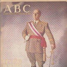 Coleccionismo de Los Domingos de ABC: ABC. ESPECIAL DEDICADO A FRANCO. CIEN AÑOS DE FRANCO. JUEVES 3 DE DICIEMBRE DE 1992.. Lote 30092666