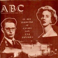 Coleccionismo de Los Domingos de ABC: ABC, MADRID, 19 SEPTIEMBRE 1960, EN PORTADA EL REY BALDUINO SE CASARÁ CON LA ESPAÑOLA FABIOLA DE MOR. Lote 31490959