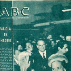 Collectionnisme de Los Domingos de ABC: ABC, MADRID, 5 DICIEMBRE 1960, EN PORTADA LA FUTURA REINA DE BÉLGICA, FABIOLA DE MORA, EN MADRID. Lote 31491308