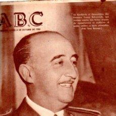 Coleccionismo de Los Domingos de ABC: ABC, MADRID, 3 OCTUBRE 1960, FIESTA ONOMÁSTICA DE FRANCO. Lote 31491426