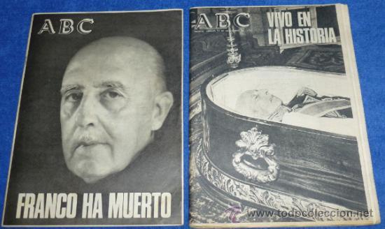 FRANCO HA MUERTO - ABC - 21 DE NOVIEMBRE DE 1975 (Coleccionismo - Revistas y Periódicos Modernos (a partir de 1.940) - Los Domingos de ABC)