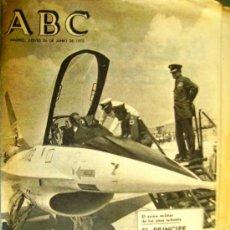 Collectionnisme de Los Domingos de ABC: ABC - 26 JUNIO 75 - EL AVIÓN MILITAR DE LOS AÑOS OCHENTA. EL PRINCIPE PRESENCIO LA EXHIBICION.. Lote 32874285