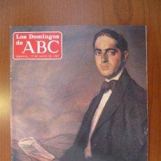 Coleccionismo de Los Domingos de ABC: LOS DOMINGOS DE ABC - 17 DE MAYO DE 1987 - MARAÑÓN: CIEN AÑOS DE UN GRAN LIBERAL. Lote 32971947