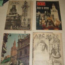 Coleccionismo de Los Domingos de ABC: LOTE ABC HISTÓRICOS. 1978-1981. TEMÁTICA SEVILLANA: SEMANA SANTA, PAPA, DÍA DE ANDALUCÍA, SEVILLA. Lote 34161290