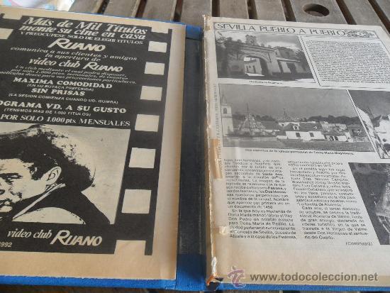 Coleccionismo de Los Domingos de ABC: TOMO CON LA RECOPILACION DE LO EDITADO POR ABC EN LOS AÑOS 1981 1982 SEVILLA PUEBLO A PUEBLO - Foto 3 - 34307034