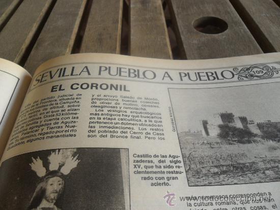 Coleccionismo de Los Domingos de ABC: TOMO CON LA RECOPILACION DE LO EDITADO POR ABC EN LOS AÑOS 1981 1982 SEVILLA PUEBLO A PUEBLO - Foto 5 - 34307034