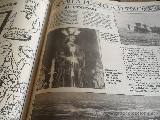 Coleccionismo de Los Domingos de ABC: TOMO CON LA RECOPILACION DE LO EDITADO POR ABC EN LOS AÑOS 1981 1982 SEVILLA PUEBLO A PUEBLO - Foto 6 - 34307034