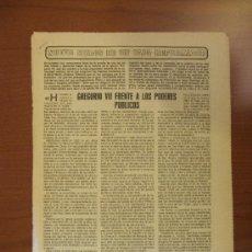 Coleccionismo de Los Domingos de ABC: ABC 25-5-85. GREGORIO VII FRENTE A LOS PODERES PÚBLICOS. Lote 34682842