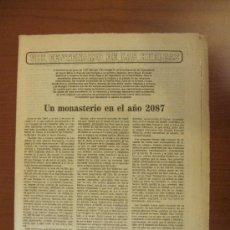 Coleccionismo de Los Domingos de ABC: ABC 31-5-87. VII CENTENARIO DEL MONASTERIO DE LAS HUELGAS. Lote 34694654