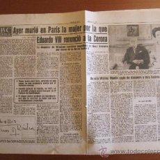 Coleccionismo de Los Domingos de ABC: ABC 25-4-86. MUERTE DE LA DUQUESA DE WINDSOR (BESSIE WILLIS). Lote 34696938