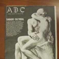 Colecionismo de Los Domingos de ABC: ABC 7-6-86. RODÍN. Lote 34697104