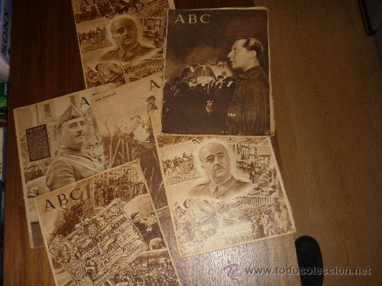 LOTE DE 7 ABC EL DIA DE LA VICTORIA Nº EXTRAORDINARIO 1941 42 49 50 ETC CON FRANCO P. DE RIVERA ETC (Coleccionismo - Revistas y Periódicos Modernos (a partir de 1.940) - Los Domingos de ABC)
