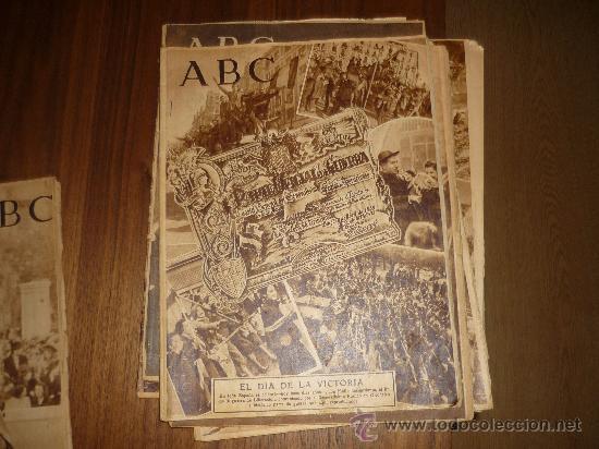 Coleccionismo de Los Domingos de ABC: LOTE DE 7 ABC EL DIA DE LA VICTORIA Nº EXTRAORDINARIO 1941 42 49 50 ETC CON FRANCO P. DE RIVERA ETC - Foto 4 - 34748512