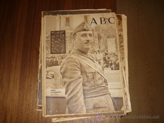 Coleccionismo de Los Domingos de ABC: LOTE DE 7 ABC EL DIA DE LA VICTORIA Nº EXTRAORDINARIO 1941 42 49 50 ETC CON FRANCO P. DE RIVERA ETC - Foto 5 - 34748512