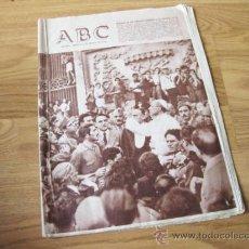 Coleccionismo de Los Domingos de ABC: PERIODICO ABC DE 5 DE MAYO DE 1956 - HOMENNAJE DE LOS EJERCITOS A SU SANTIDAD EL PAPA PIO XII. Lote 35813014