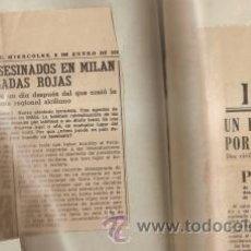 Coleccionismo de Los Domingos de ABC: 100 RECORTES DE PRENSA DE DIFERENTES MEDIOS SOBRE TERRORISMO EN ESPAÑA (1980-81). Lote 36962798