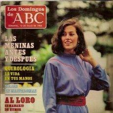 Coleccionismo de Los Domingos de ABC: LOS DOMINGOS DE ABC Nº 845, 15 DE JULIO DE 1984. Lote 37185027