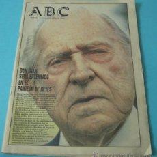 Coleccionismo de Los Domingos de ABC: ABC. 2-ABRIL-1993. HA FALLECIDO DON JUAN. Lote 37405383