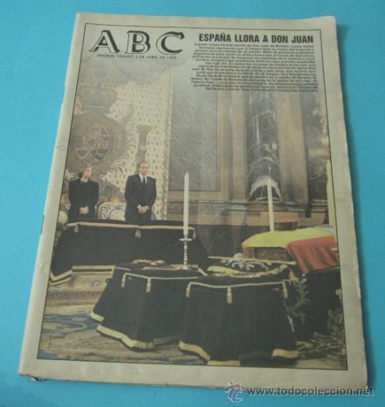 ABC. 3-ABRIL-1993. ENTIERRO DE DON JUAN (Coleccionismo - Revistas y Periódicos Modernos (a partir de 1.940) - Los Domingos de ABC)