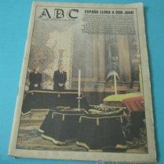 Coleccionismo de Los Domingos de ABC: ABC. 3-ABRIL-1993. ENTIERRO DE DON JUAN. Lote 37405411