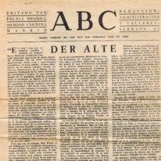 Coleccionismo de Los Domingos de ABC: HOJA ARTICULO - MUERTE DE CONRADO ADENAUER - DIARIO ABC ABRIL 1967 - VER DESCRIPCIÓN. Lote 38535992