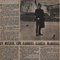 """Coleccionismo de Los Domingos de ABC: ARTICULO DE PRENSA ORIGINAL, ABC 1979 """"EN MEXICO, CON GABRIEL GARCIA MARQUEZ"""". Lote 38844017"""