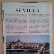 Coleccionismo de Los Domingos de ABC: LAS CIUDADES MÁS BELLAS DE ESPAÑA SEVILLA SUPLEMENTO ABC 1966. Lote 39032111
